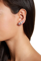 Jenny Packham Crystal & Pearl Accented Leaf Ear Crawlers