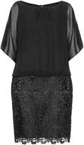 Apart Plus Size Chiffon and lace dress