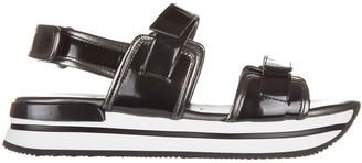 Hogan H257 Velcro Platform Sandals