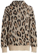 R 13 Cashmere Leopard Hoodie