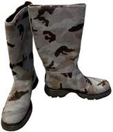Prada Grey Pony-style calfskin Boots