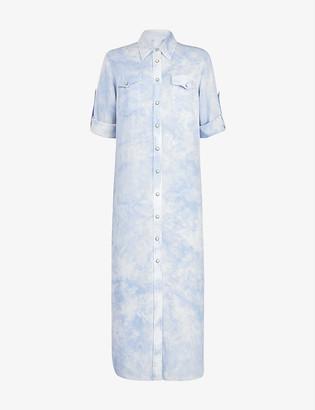 AllSaints Aliza tie dye-print crepe dress