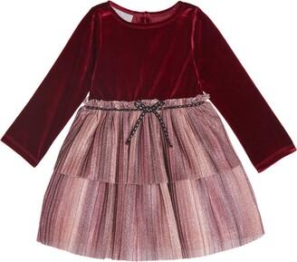 Pippa & Julie Velvet Tulle Sparkle Dress