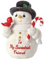 "Precious Moments To My Sweetest Friend"" Snowman Christmas Figurine"