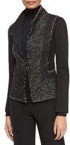 Donna Karan Tweed & Jersey Structured Jacket