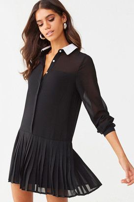 Forever 21 Pleated Drop-Waist Dress