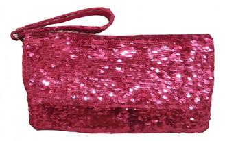 Ghibli Pink Leather Clutch bags