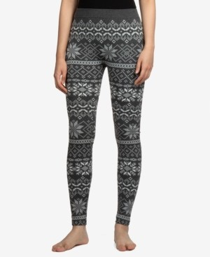 Hippie Rose Juniors' Fairisle Fleece-Lined Leggings