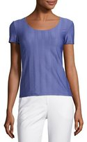 Armani Collezioni Interlock Jersey Scoop-Neck Tee, Lilac