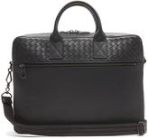 Bottega Veneta Intrecciato-woven panel leather briefcase