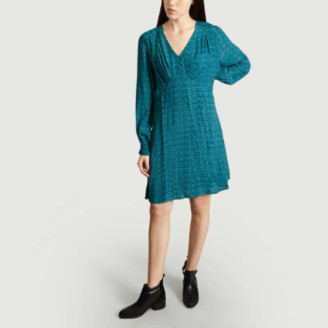 Suncoo Emerald Viscose Claudia Dress - 0 | viscose | emerald - Emerald