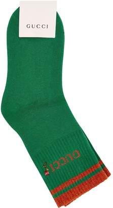 Gucci Metallic Logo Socks