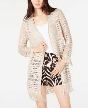INC International Concepts Inc Petite Crochet Fringe Cardigan Completer, Created for Macy's