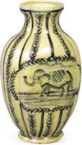 AA Importing 12 Elephant Vase, Cream