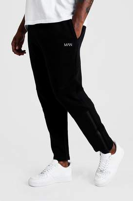 Big & Tall Skinny Biker Panelled Joggers