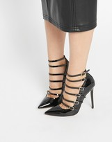 Asos PERSONALISE Caged Pointed High Heels