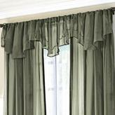 WholeHome 'Cornelli Voile' Sheer Embroidered Ascot Valance