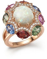 Bloomingdale's Diamond, Multi Sapphire and Opal Statement Ring in 14K Rose Gold