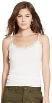 Polo Ralph Lauren Lace-Trim Pointelle Tank
