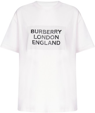 Burberry Logo Print Oversized T-Shirt