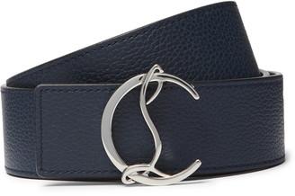 Christian Louboutin 4cm Full-Grain Leather Belt
