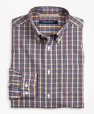 Brooks Brothers Boys Non-Iron Multi-Check Sport Shirt