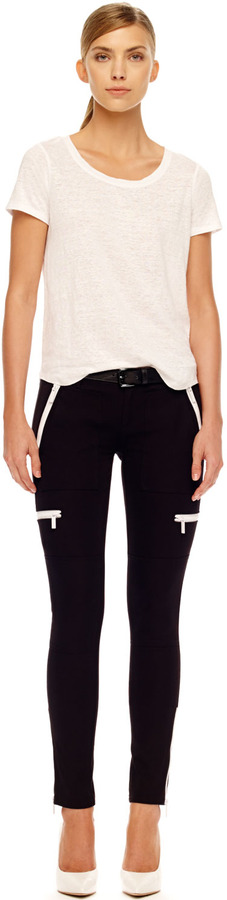 Michael Kors Skinny Zipper Cargo Pants