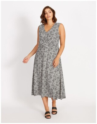 Basque Twist Jersey Dress