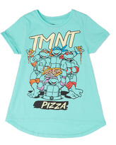 Freeze Turquoise TMNT 'Pizza' Tee - Girls