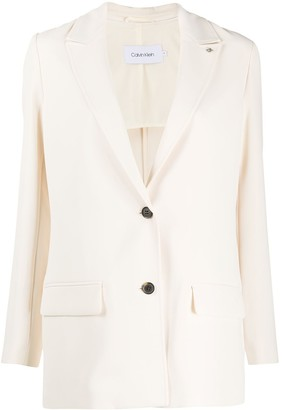 Calvin Klein Single-Breasted Longline Blazer