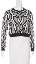 Torn By Ronny Kobo Jacquard Cropped Sweater