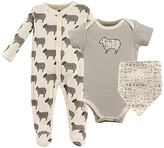 Hudson Baby Gray Sheep Bodysuit Set - Infant