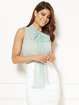New York & Co. Eva Mendes Collection - Isabella Sleeveless Bow Blouse