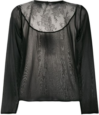 Fabiana Filippi lace-panel blouse