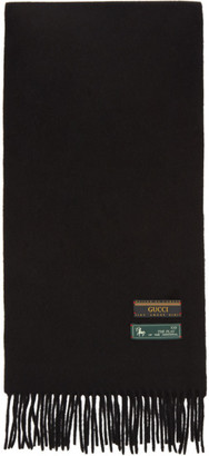 Gucci Black Wool and Cashmere Scarf