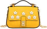 Mellow World Yellow & White Evon Mini Crossbody Bag