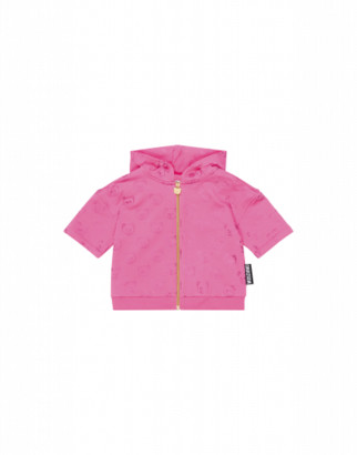 Moschino Teddy Bear All Over Sweatshirt Woman Pink Size 4a It - (4y Us)