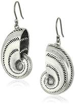 Lucky Brand Silver Shell Drop Earrings
