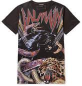 Balmain Printed Cotton-jersey T-shirt - Black
