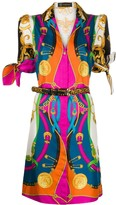 Versace scarf print shirt dress