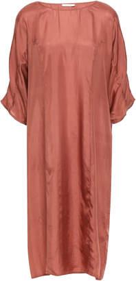 Mes Demoiselles Drakkar Gathered Silk-satin Dress