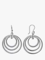 Andea Sterling Silver Spinning Hoop Drop Earrings, Silver