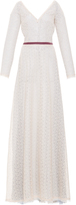 Luisa Beccaria Lace Embroidered Long Dress