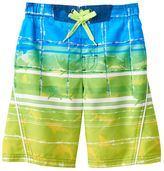 ZeroXposur Boys 4-7 Sharks & Striped Abstract Swim Trunks