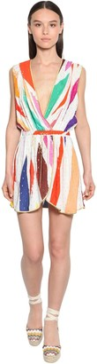 Missoni Printed Viscose Mini Dress W/ Hood