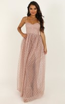 Showpo Sparkle With Love Dress in blush glitter - 4 (XXS) Dresses