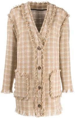 MSGM checked tweed jacket