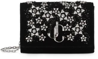 Jimmy Choo Diamante Embellished Velvet Varenne Clutch Bag