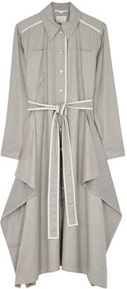 Stella McCartney Leilani grey wool midi shirt dress