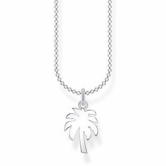 Thomas Sabo 925 Sterling Silver Palm Tree Necklace of Length 38-45cm